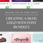 Creating a Blog Logo with Font Bundles